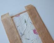 Бумажный пакет саше багет с прозрачным окошком большой